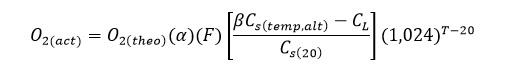 فرمول میزان هوادهی در پکیج تصفیه فاضلاب با روش تصفیه هوادهی سطحی