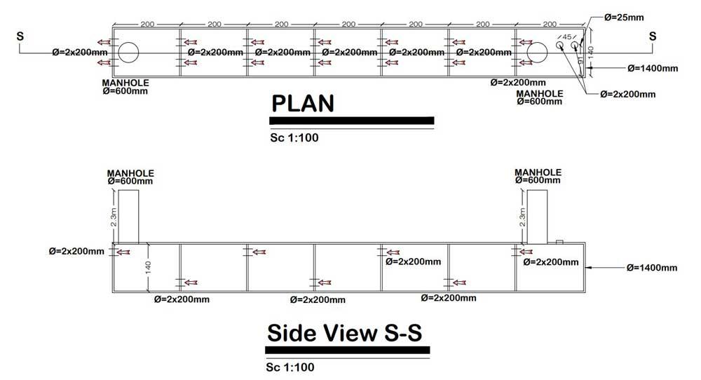 نقشه سپتیک تانک پیشرفته