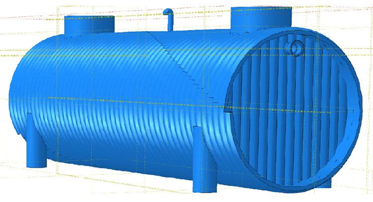 شبیه سازی سپتیک تانک پلی اتیلن در نرم افزار آباکوس