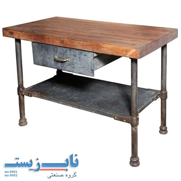 میز کار صنعتی قدیمی